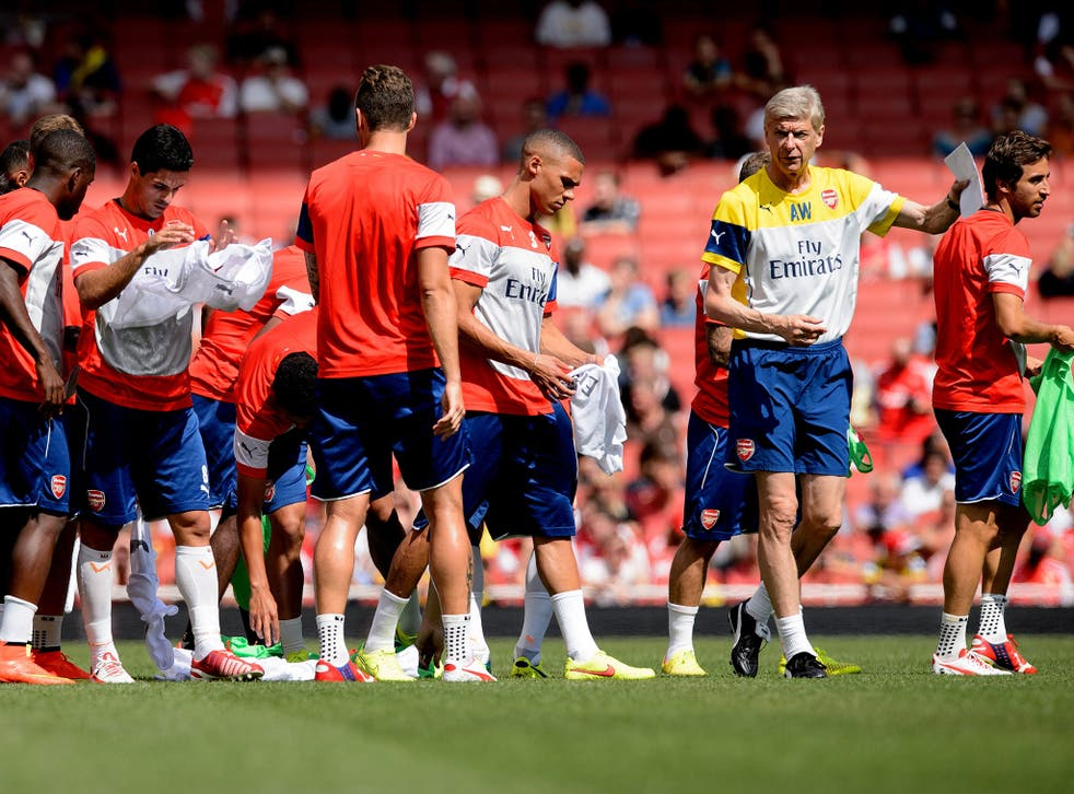 Arsene Wenger will lead his Arsenal team into the Community Shiled for the first time in nine-years