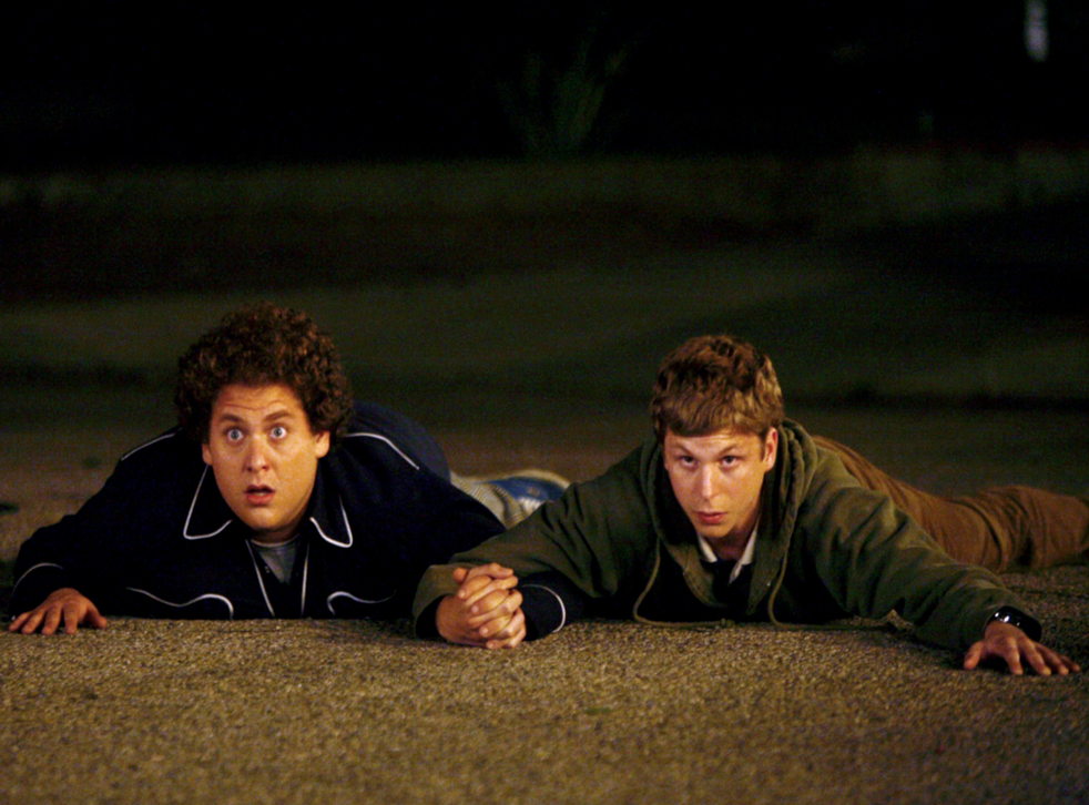 Jonah Hill and Michael Cera as Seth and Evan in Seth Rogen's Superbad