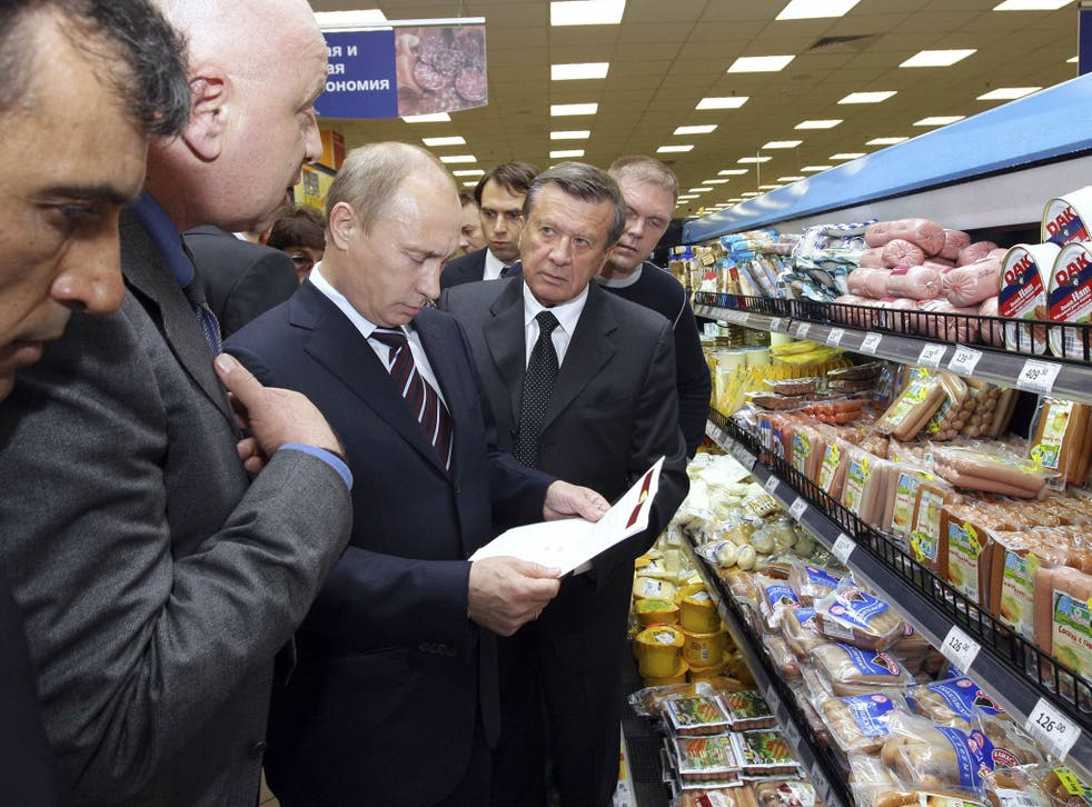Moscow banned most food imports from the EU and the US on Thursday