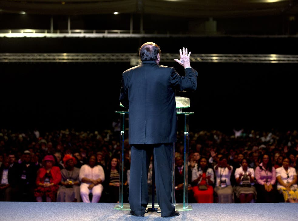 Televangelist Morris Cerullo is appearing at Earls Court