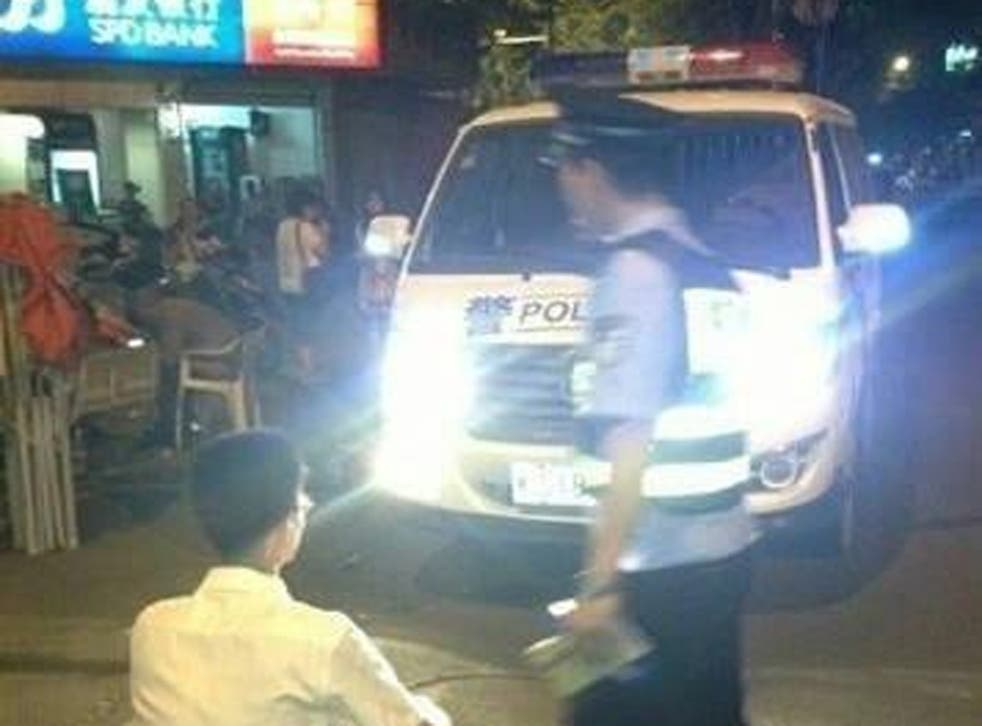 This image was posted to Sina Weibo by the Shenzhen traffic police department, alongside a warning to full-beam headlight abusers