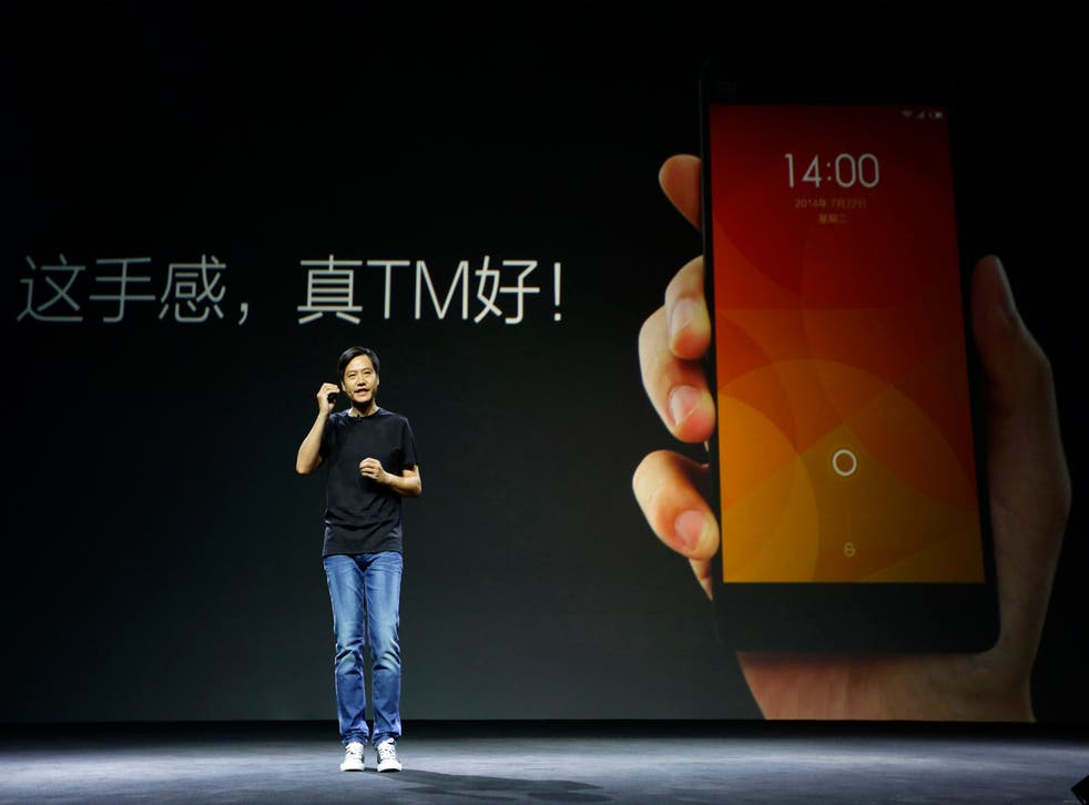 Xiaomi funder and CEO Lei Jun speaks at a launch ceremony of Xiaomi Phone 4, in Beijing, July 22, 2014.