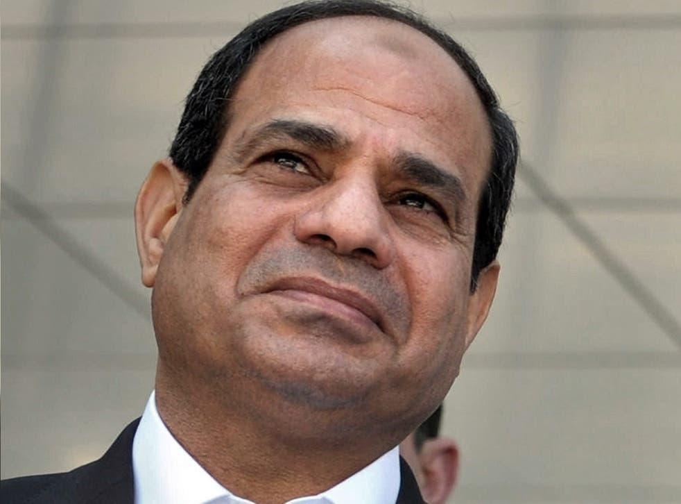 Egyptian President Abdel Fattah al-Sisi denied involvement in the strikes