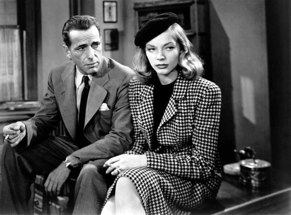 Humphrey Bogart as Philip Marlowe and Lauren Bacall as Vivian Rutledge in 'The Big Sleep', 1946