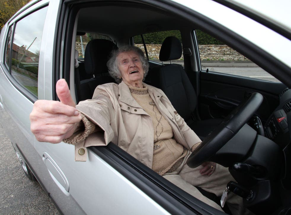 Thumb a ride: Mary Walker featured in '100-Year-Old Drivers'