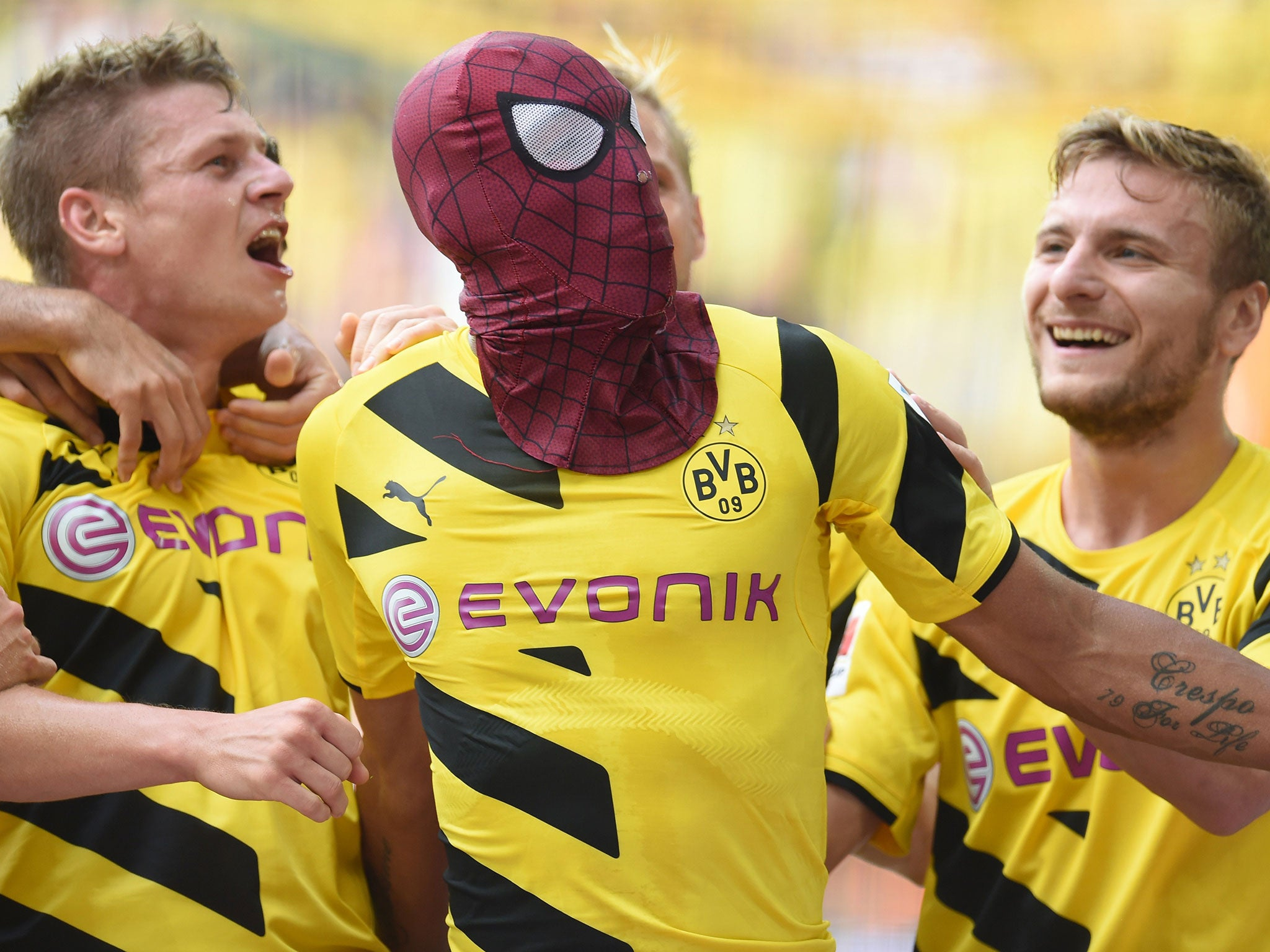 Pierre-Emerick Aubameyang as Spiderman: The best, most ... Pierre Emerick Aubameyang Spiderman