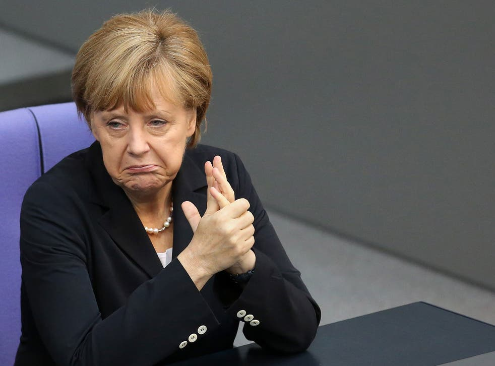 German Chancellor Angela Merkel attends a meeting of the Bundestag, Germany's federal parliament
