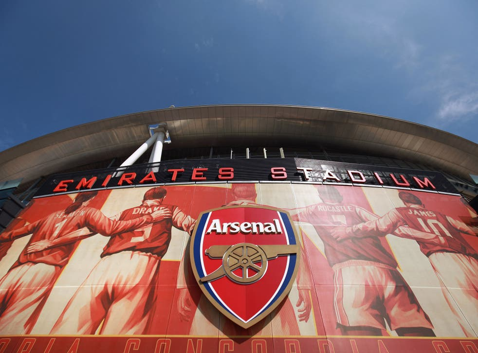 A view of the Emirates Stadium, home of Arsenal