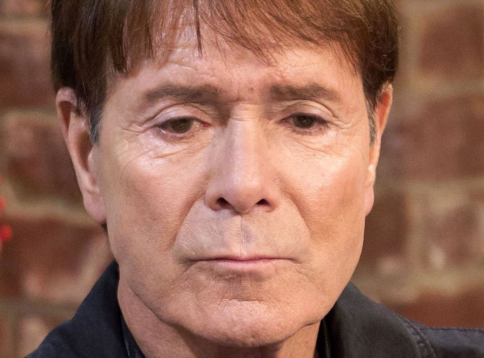 Cliff Richard on the set of This Morning last November