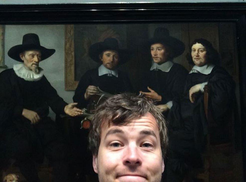 And here's me with Gerbrand van den Eeckhout's 1657 group portrait...