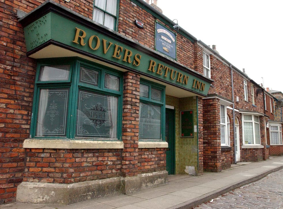 The famous 'Coronation Street' pub the Rovers Return Inn on the former set
