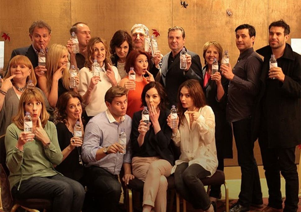 Downton Abbey cast respond to water bottle gafe with