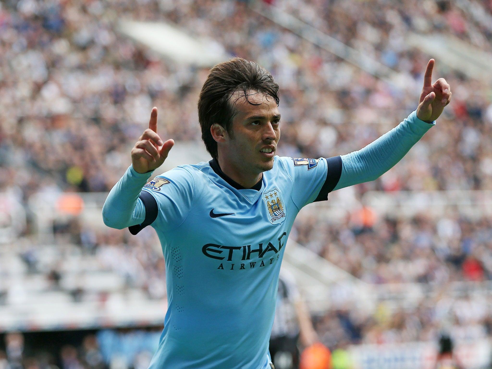 Newcastle United vs Manchester City match report David Silva and