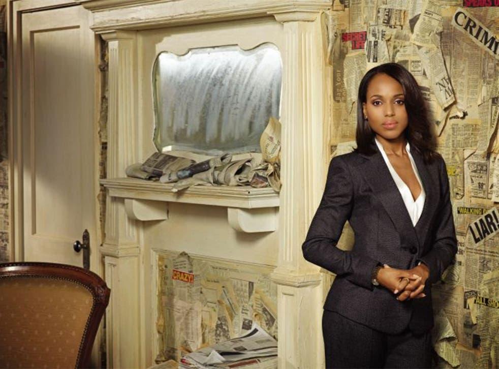 Kerry Washington in US drama 'Scandal'