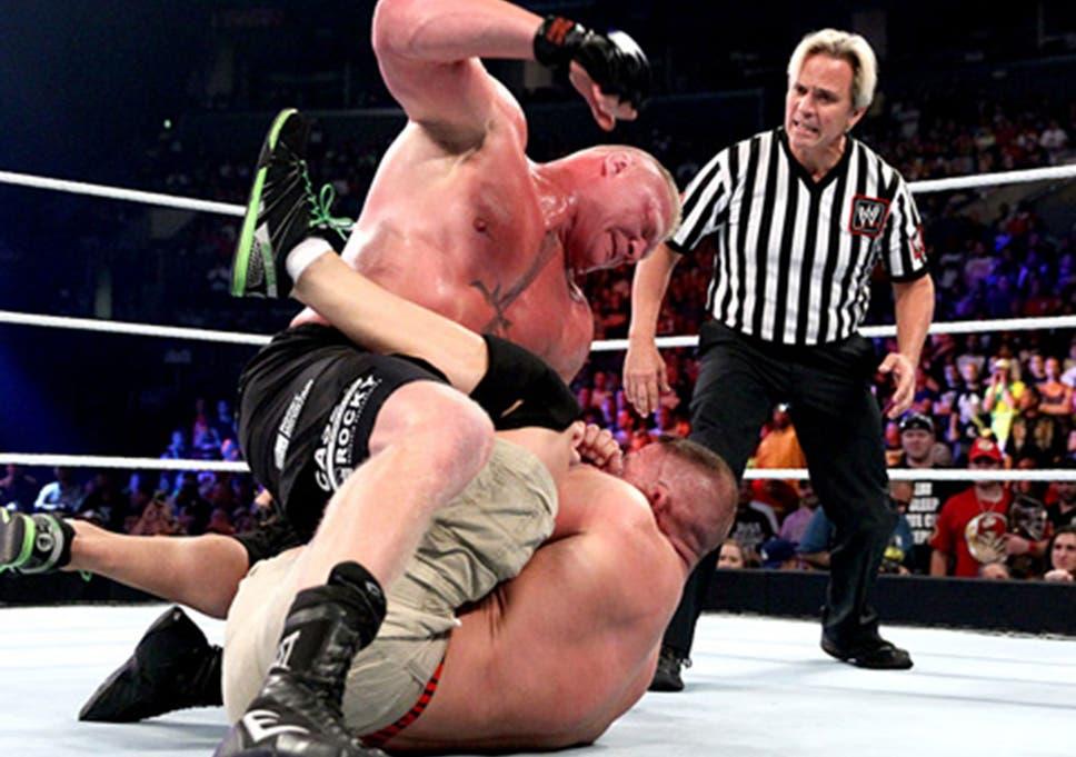 Brock Lesnar beats down John Cena in the main event at SummerSlam
