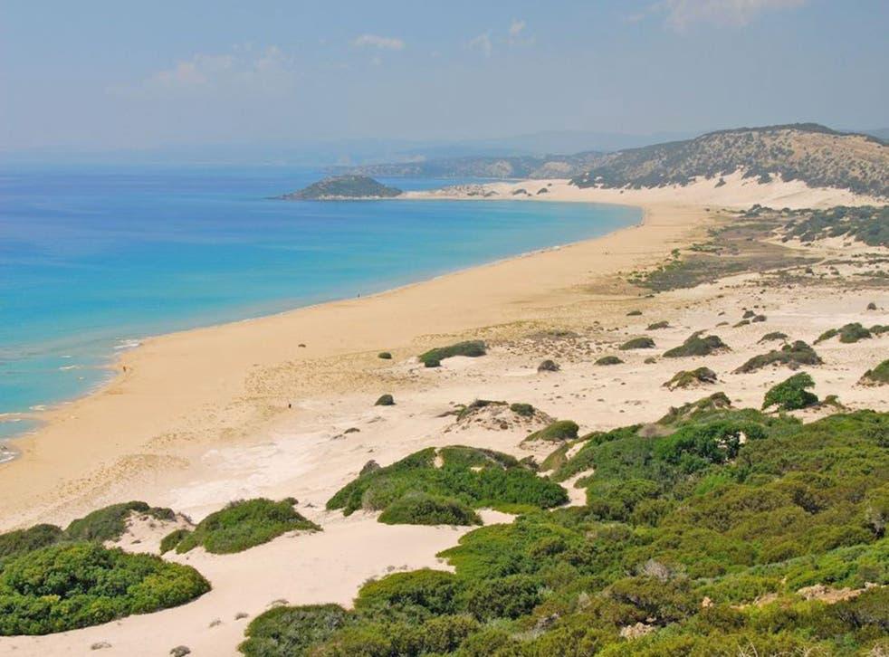 The coast is clear A deserted beach on the Karpas peninsula