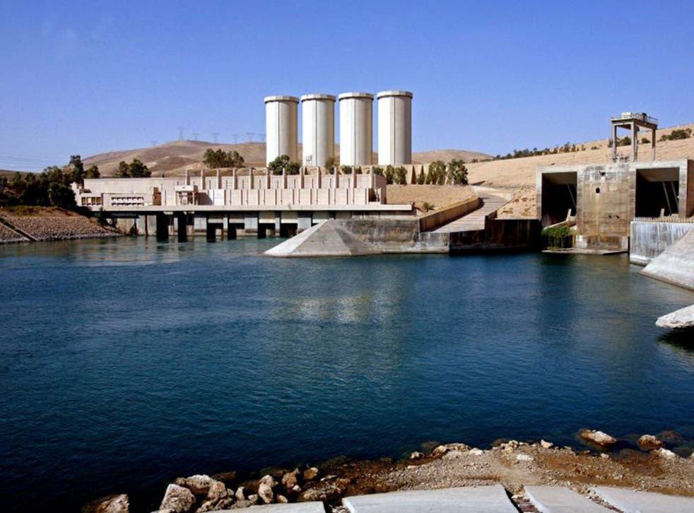 The Mosul dam lies 225 miles northwest of Baghdad
