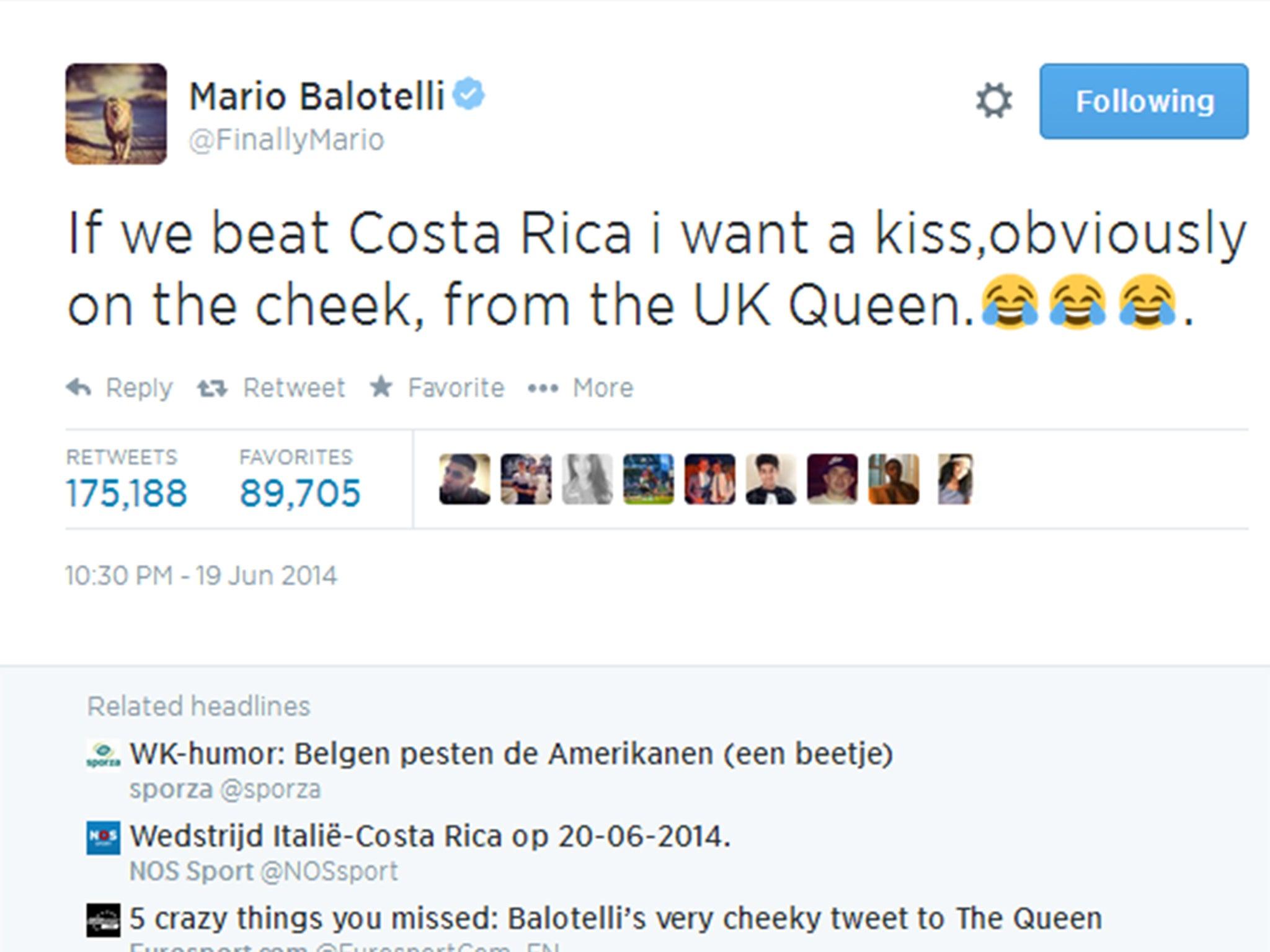 Mario Balotelli apologises for anti-Semitic Instagram post of Super