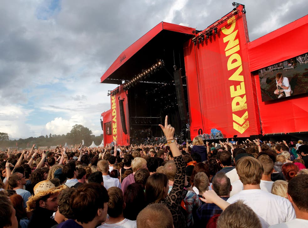 A view of the main stage at Reading Festival.