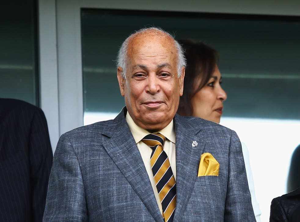 Dr. Assem Allam, the Hull City chairman who was widely criticised for his rejected rebrand plans, looked happy from the stands.