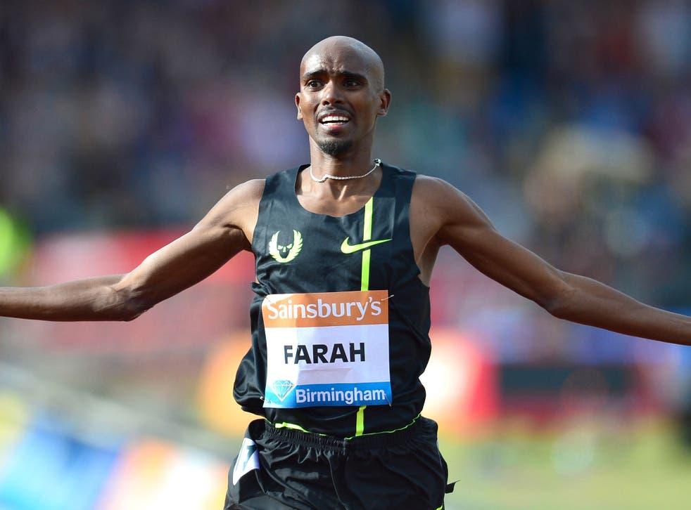 Mo Farah smashes Steve Ovett's two-mile record in Birmingham