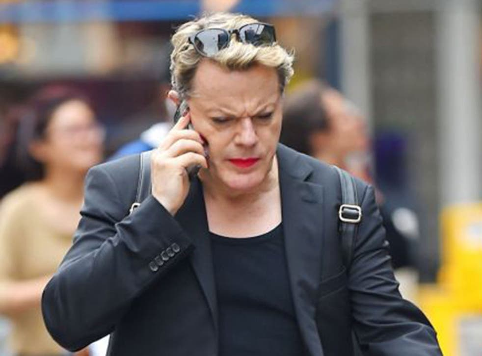 Transvestite comedian Eddie Izzard has admitted that he has been involved in a 'couple of fights'