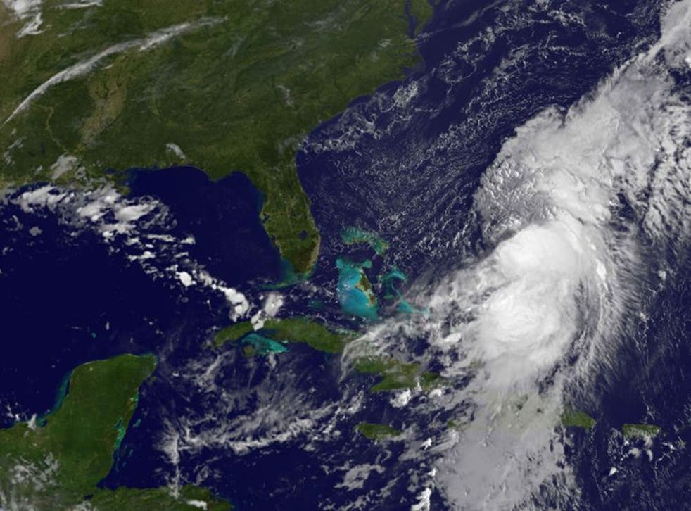 Hurricane Cristobal over the Bahamas.