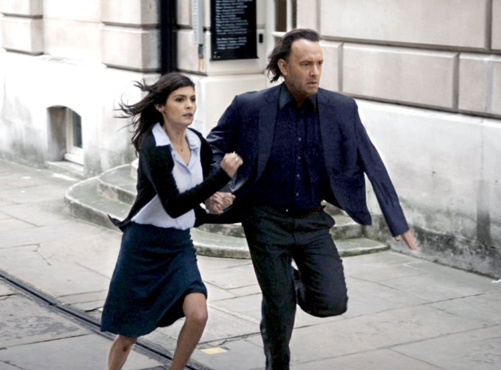 Tom Hanks and Audrey Tautou in Ron Howard's 2006 thriller The Da Vinci Code