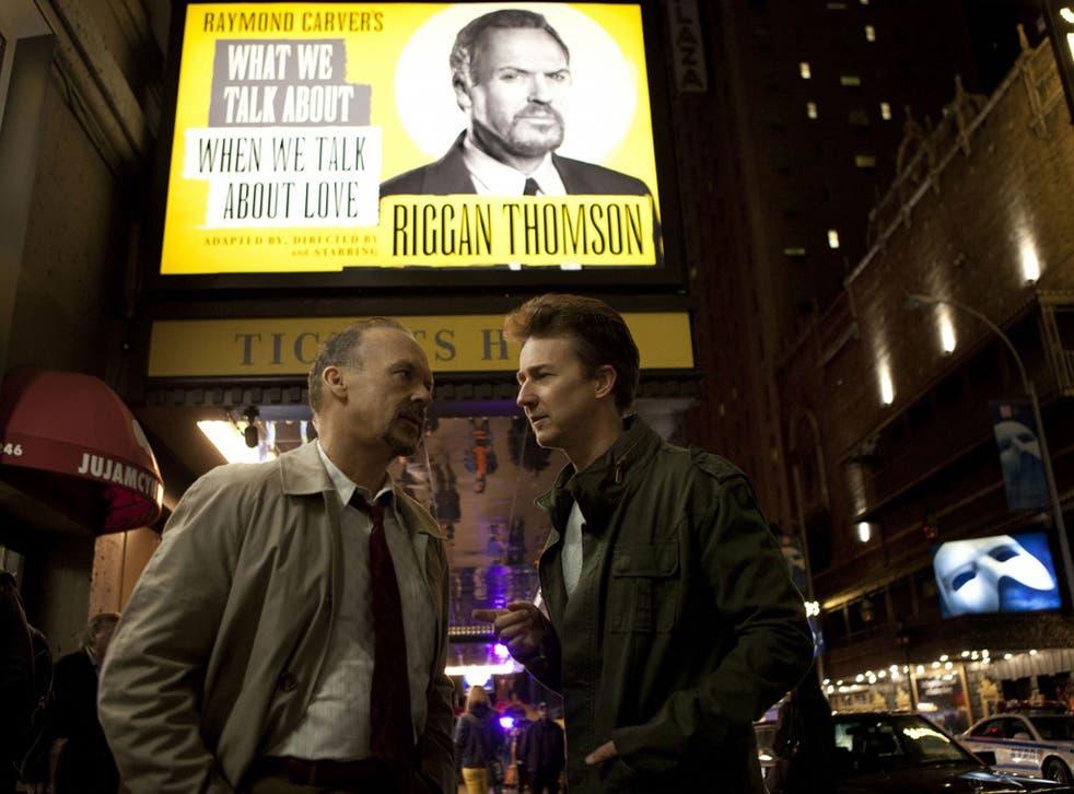 Michael Keaton and Edward Norton star in Alejandro González Iñárritu's Birdman