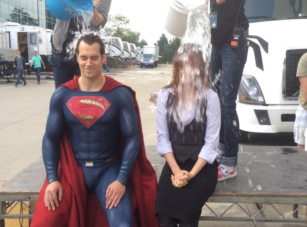 Even Henry Cavill and Amy Adams found time to take the challenge during Batman v Superman filming