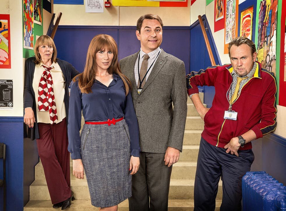 From left to right: Frances de la Tour, Catherine Tate, David Walliams and Philip Glenister in 'Big School'