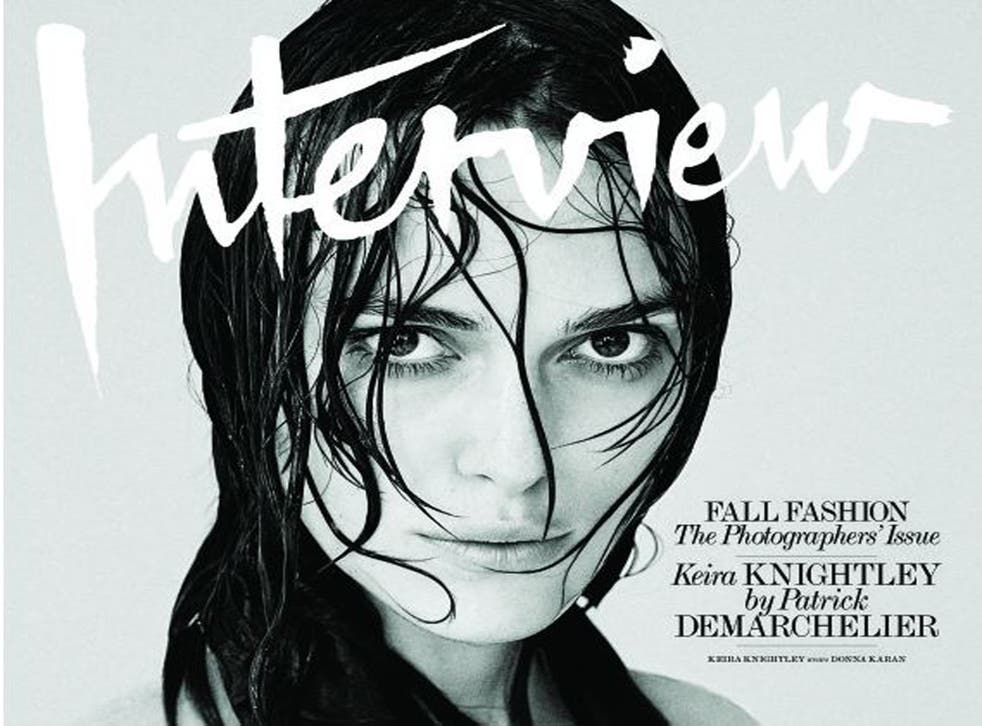 Keira Knightley on the cover of Interview Magazine's September 2014 issue