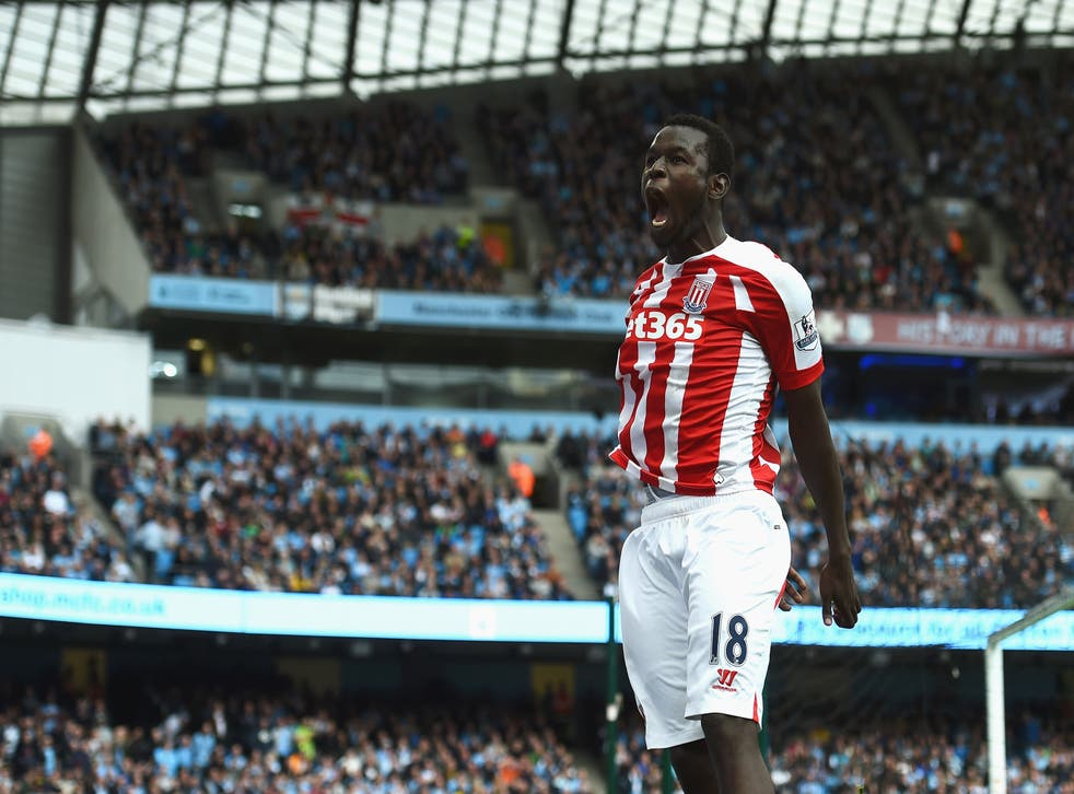 Stoke forward Mame Biram Diouf