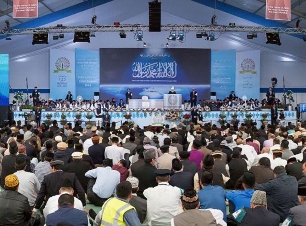 Ahmadis at the Jalsa Salana convention in Hampshire