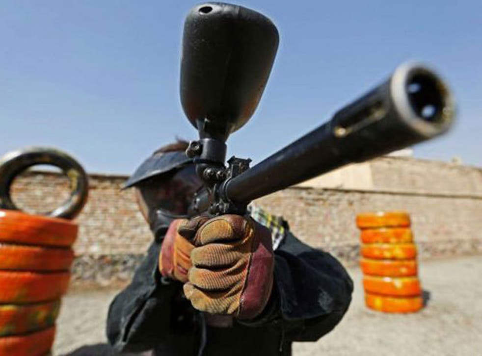 Paintball is one of a small number of leisure activities that have sprung up in Kabul since the fall of the Taliban