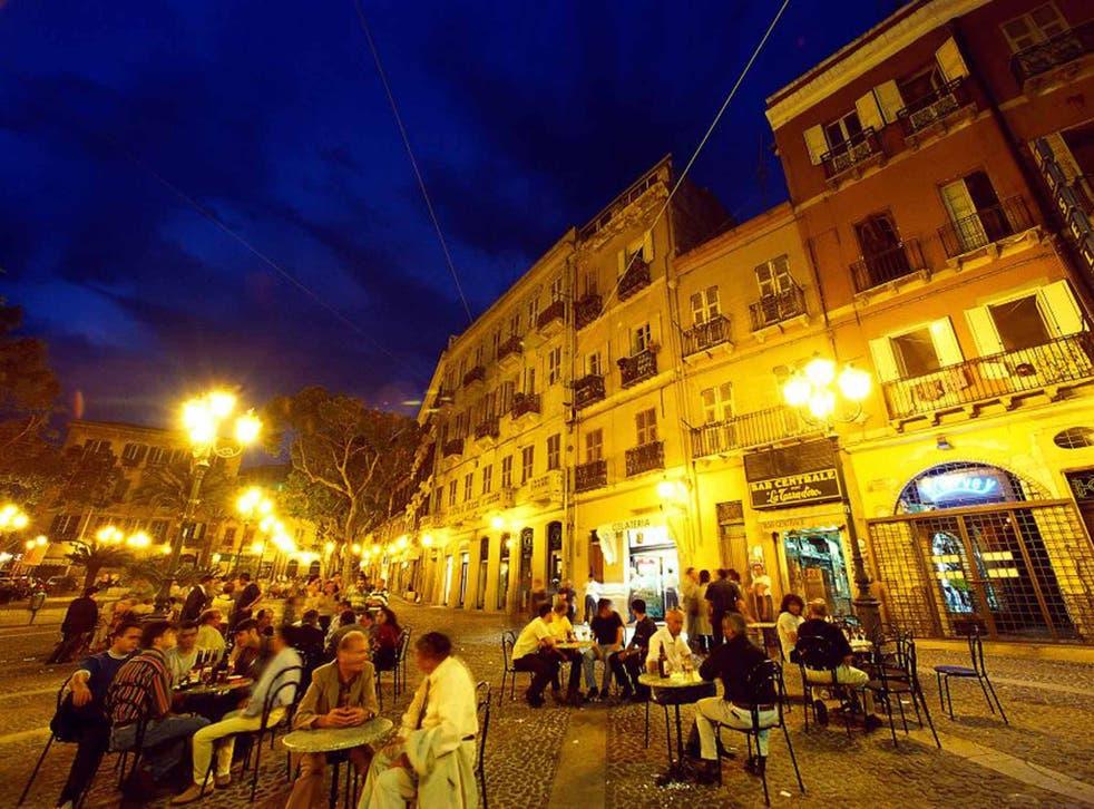 Cagliari's central piazza