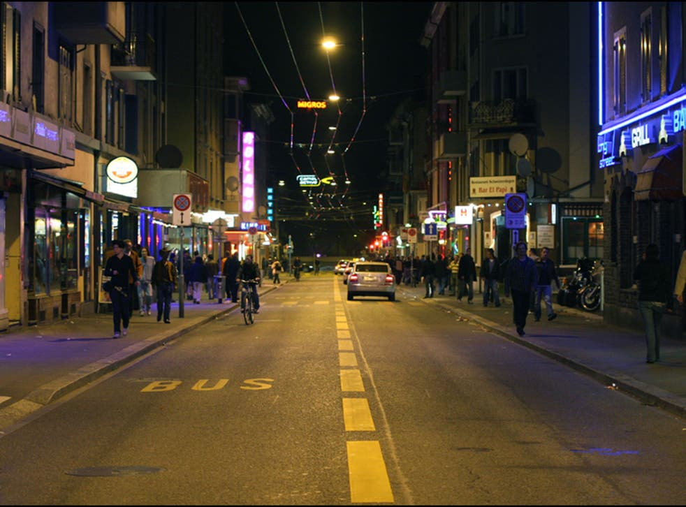 Zurich's Langstrasse (Long Street)