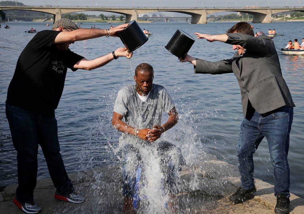 f90459e1876f Original Fugees rapper Pras Michel takes the ice bucket challenge in North  Korea