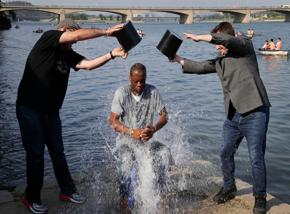 Original Fugees rapper Pras Michel takes the ice bucket challenge in North Korea