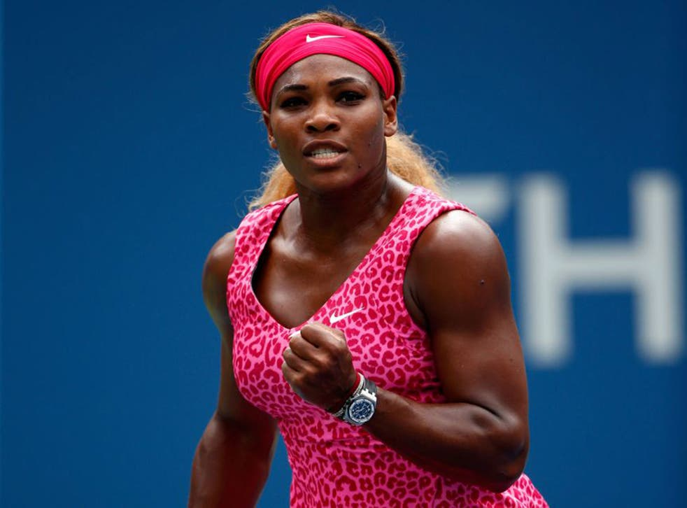 Serena Williams beat Kaia Kanepi 6-3, 6-3 and is the only one of the top nine seeds left in the US Open (Getty)