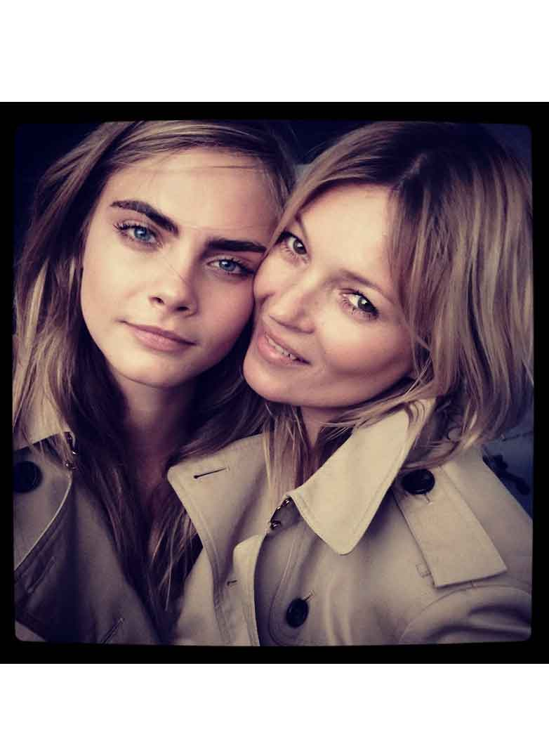 ee0b58f1c Cara Delevingne and Kate Moss reunite to front new Mango campaign ...