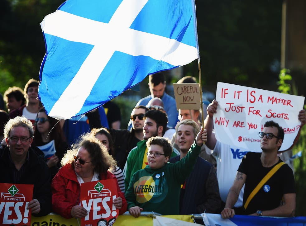 UK government has offered more powers to Scotland if it rejects independence