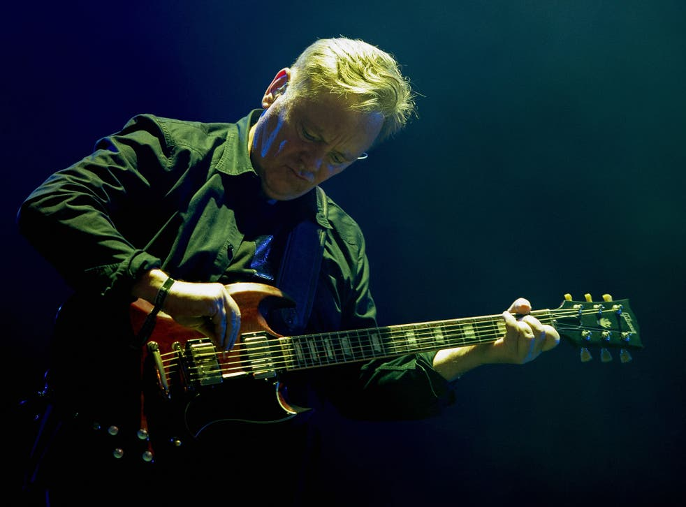 Bernard Sumner of New Order performs at Lollapalooza in Brazil
