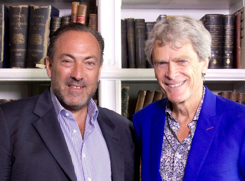 Marc Worth (L) and Sir John Hegarty (R)