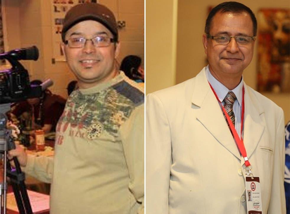 Ghimire Gundev (left) and Krishna Upadhyaya vanished on Sunday afternoon