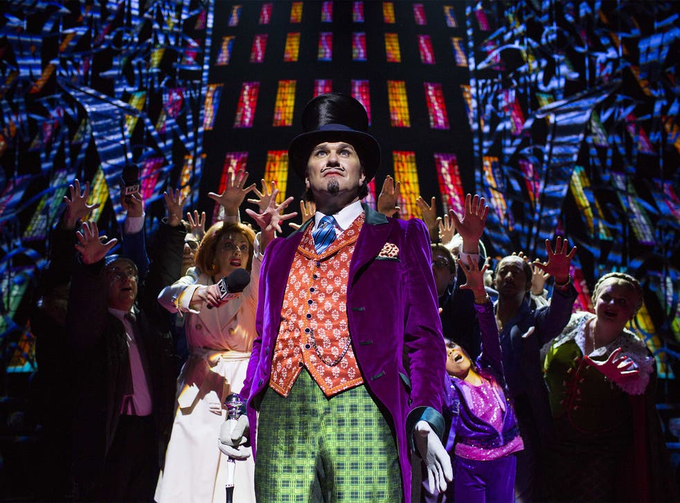 Douglas Hodge as Willy Wonka in a West End musical production of Charlie and the Chocolate Factory