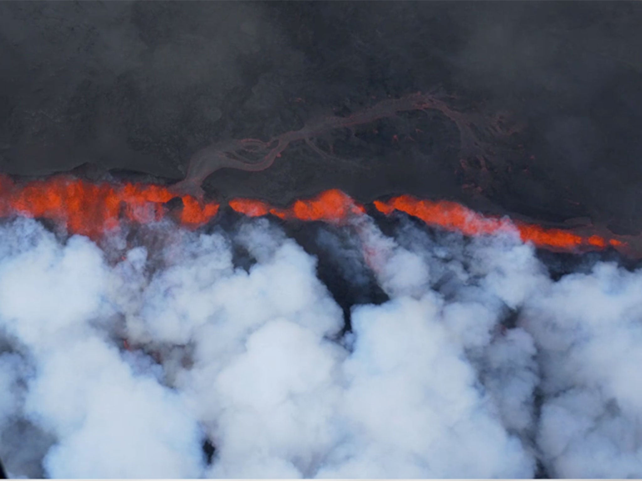Watch Aerial Footage Of Iceland 39 S Lava Fields As Eruptions