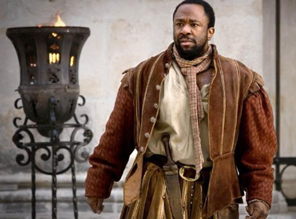 Lucian Msamati, here playing Guido in Doctor Who episode 'The Vampires of Venice', will be the Royal Shakespeare Company's first black Iago