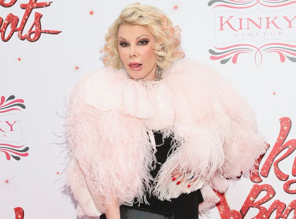 Joan Rivers attends the Media Opening for Kinky Boots on Broadway, 'KinkyBway', at the Al Hirschfeld Theatre on 4 April 2013 in New York City