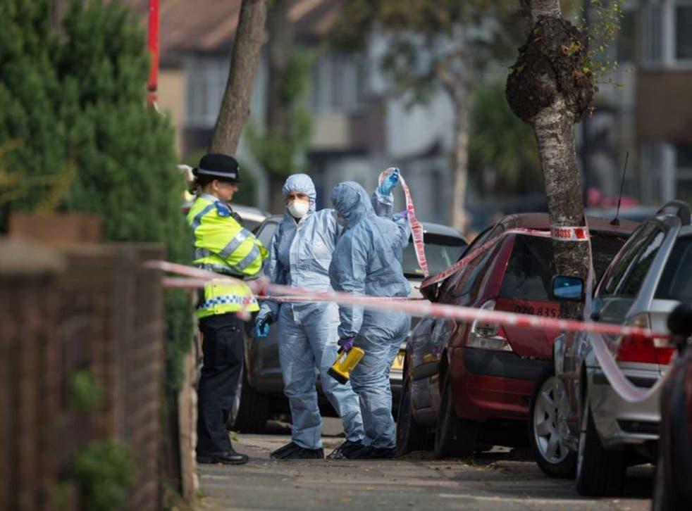 Forensic investigators prepare to examine a property in Edmonton